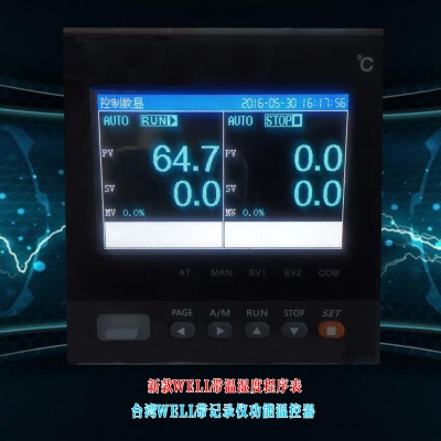 Well带记录功能温湿度可程式控制器